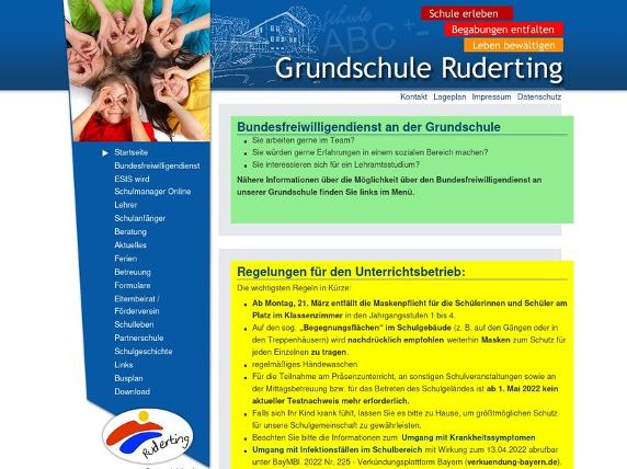 Screenshot von http://www.vsruderting.de