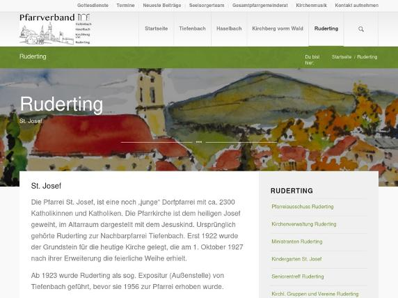 Screenshot von http://www.pfarrei-ruderting.de